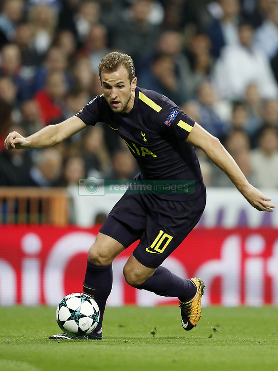 Harry Kane of Tottenham Hotspur FC during the UEFA Champions League group H match between Real Madrid and Tottenham Hotspur on October 17, 2017 at the Santiago Bernabeu stadium in Madrid, Spain.