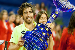 Pablo Cuevas of Uruguay during flower ceremony after final of singles at 25th Vegeta Croatia Open Umag, on July 27, 2014, in Stella Maris, Umag, Croatia. Photo by Urban Urbanc / Sportida