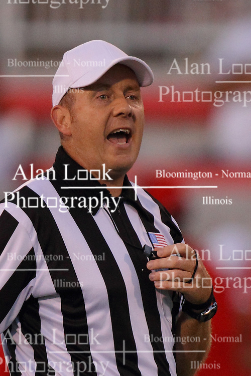 06 Sep 2014: Referee: Ron Hudson during a non-conference NCAA football game between the Delta Devils of Mississippi Valley State and the Redbirds of Illinois State at Hancock Stadium in Normal Il