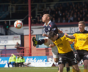 Dundee's Leighton McIntosh and Livingston's Callum Fordyce  - Dundee v Livingston, Irn Bru Scottish Football League First Division at Dens Park..© David Young - 5 Foundry Place - Monifieth - DD5 4BB - Telephone 07765 252616 - email: davidyoungphoto@gmail.com - web: www.davidyoungphoto.co.uk