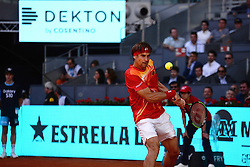 May 7, 2019 - Madrid, Spain - David Ferrer (SPA) in his match against Roberto Bautista (SPA) during day four of the Mutua Madrid Open at La Caja Magica in Madrid on 7th May, 2019. (Credit Image: © Juan Carlos Lucas/NurPhoto via ZUMA Press)