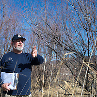 Larry Winn warns of the dangers Salt Cedar Trees pose to the ecosystem of Grants during a tour of the area that is up for a proposal to clear.
