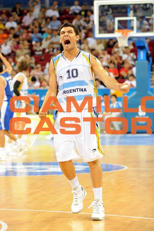 DESCRIZIONE : Beijing Pechino Olympic Games Olimpiadi 2008 Argentina Greece<br />GIOCATORE : Carlos Delfino<br />SQUADRA : Argentina<br />EVENTO : Olympic Games Olimpiadi 2008<br />GARA : Argentina Grecia<br />DATA : 20/08/2008 <br />CATEGORIA : Esultanza<br />SPORT : Pallacanestro <br />AUTORE : Agenzia Ciamillo-Castoria/M.Ciamillo<br />Galleria : Beijing Pechino Olympic Games Olimpiadi 2008 <br />Fotonotizia : Beijing Pechino Olympic Games Olimpiadi 2008 Argentina Greece<br />Predefinita : Si