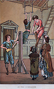 Activity for girls - Gymnastics. Print 1884.