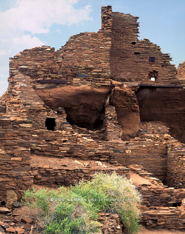 An Early Native American Structure, The Wupatki Pueblo Ruin, Wupatki National Monument, Arizona