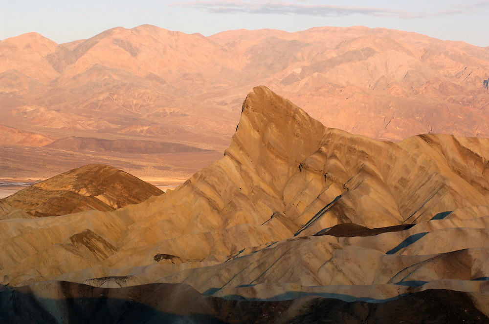 Sunrise at Zabriskie Point, Death Valley National Park, California, United States of America