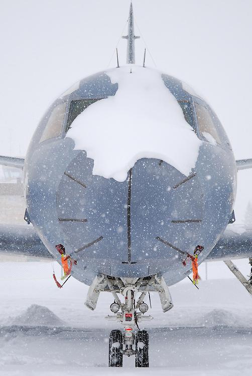 CP-140 Aurora in a snowstorm