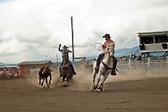 Team Roping, rodeo, Wilsall, Montana