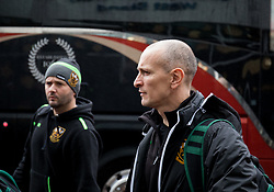 Northampton Saints' Interim Head Coach Alan Dickens arrives at the stadium <br /> <br /> Photographer Simon King/Replay Images<br /> <br /> EPCR Champions Cup Round 4 - Ospreys v Northampton Saints - Sunday 17th December 2017 - Parc y Scarlets - Llanelli<br /> <br /> World Copyright © 2017 Replay Images. All rights reserved. info@replayimages.co.uk - www.replayimages.co.uk