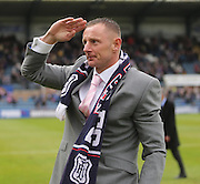 Robert Douglas salutes the Derry as he says goodbye - Dundee v Kilmarnock -  Clydesdale Bank Scottish Premier League <br />  <br /> &copy; David Young - www.davidyoungphoto.co.uk - email: davidyoungphoto@gmail.com
