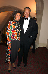 LORD & LADY OWEN at a dinner to announce the 2005 Man Booker Prize held at The Guilhall, City of London on 10th October 2005.<br /><br />NON EXCLUSIVE - WORLD RIGHTS