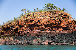 Unique geology in Deception Bay, Camden Sound.