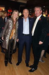Left to right, HILARY WESTON, GALEN WESTON and JAMES MULLEN at a 2nd party to celebrate the opening on Sac Freres at 7 Grafton Street, London W1 on 3rd November 2005.<br />