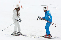 29.04.2011, Ischgl, AUT, Skiurlaub Ruby in Ischgl, Idalpe, im Bild Ruby Rubacuori mit ihrem Skilehrer Michael auf der Ischgler Idalp // Ruby Rubacuori with her Ski Instructor Michael during Skiing at Skiarea Idalp in Ischgl Austria on 29/4/2011. EXPA Pictures © 2011, PhotoCredit: EXPA/ J. Groder