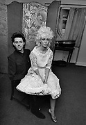 Bob Geldof and Paula Yates backstage at the Secret Policeman's Ball.