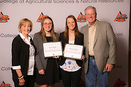 Clark and Dorothy King Endowed Scholarship recipients, Shauna Folchert and Rylie Merritt.