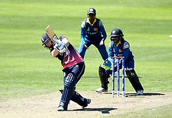 Heather Knight of England Women goes on the attack against Sri Lanka Women - Mandatory by-line: Robbie Stephenson/JMP - 02/07/2017 - CRICKET - County Ground - Taunton, United Kingdom - England Women v Sri Lanka Women - ICC Women's World Cup Group Stage