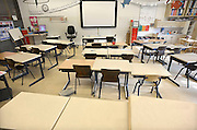 Nederland, Ubbergen, 18-2-2013Een lege klas in een basisschool.Foto: Flip Franssen/Hollandse Hoogte