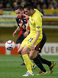 17.03.2011, El Madrigal, Villarreal, ESP, UEFA EL, FC Villarreal vs Bayer 04 Leverkusen, im Bild Villareal's Bruno Soriano (f) and Bayer 04 Leverkusen's Renato Augusto during UEFA Europa League match.March 17,2011. . EXPA Pictures © 2011, PhotoCredit: EXPA/ Alterphotos/ Acero +++++ ATTENTION - OUT OF SPAIN / ESP +++++
