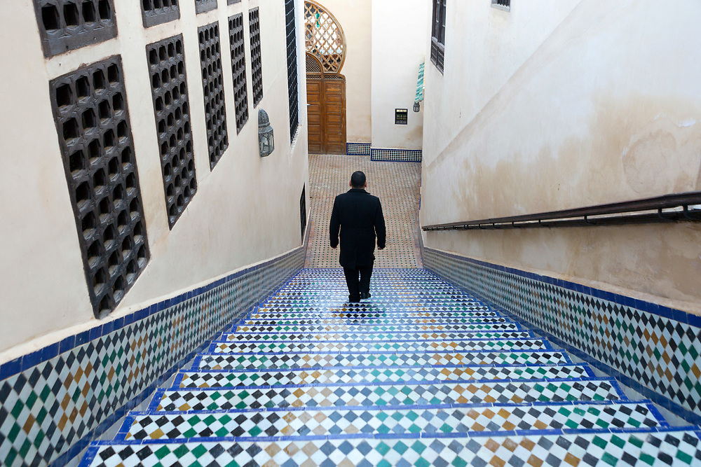 Al-Kairouine Mosque and University, Fez Medina, Morocco, 2018-02-02.<br />