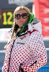 Janica Kostelic during 2nd Rund of Men's Giant Slalom of FIS Ski World Cup Alpine Kranjska Gora, on March 5, 2011 in Vitranc/Podkoren, Kranjska Gora, Slovenia.  (Photo By Vid Ponikvar / Sportida.com)