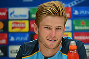 A relaxed Eric Dier at Tottenham Hotspur pre match Press Conference  at Tottenham Training Centre, Enfield, United Kingdom on 13 September 2016. Photo by Jon Bromley.