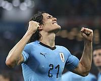 Sport-Bilder des Tages WM 2018, Uruguay - Portugal (180630) -- SOCHI, June 30, 2018 -- Edinson Cavani of Uruguay celebrates scoring during the 2018 FIFA World Cup WM Weltmeisterschaft Fussball round of 16 match between Uruguay and Portugal in Sochi, Russia, June 30, 2018. ) (SP)RUSSIA-SOCHI-2018 WORLD CUP-ROUND OF 16-URUGUAY VS PORTUGAL FeixMaohua PUBLICATIONxNOTxINxCHN