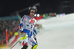 "29.01.2019, Planai, Schladming, AUT, FIS Weltcup Ski Alpin, Slalom, Herren, 1. Lauf, im Bild Clement Noel (FRA) // Clement Noel (FRA) DNF his 1st run of men's Slalom ""the Nightrace"" of FIS ski alpine world cup at the Planai in Schladming, Austria on 2019/01/29. EXPA Pictures © 2019, PhotoCredit: EXPA/ Erich Spiess"