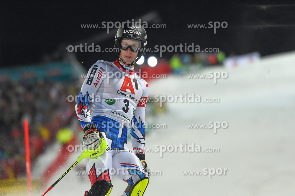 """29.01.2019, Planai, Schladming, AUT, FIS Weltcup Ski Alpin, Slalom, Herren, 1. Lauf, im Bild Clement Noel (FRA) // Clement Noel (FRA) DNF his 1st run of men's Slalom """"the Nightrace"""" of FIS ski alpine world cup at the Planai in Schladming, Austria on 2019/01/29. EXPA Pictures © 2019, PhotoCredit: EXPA/ Erich Spiess"""