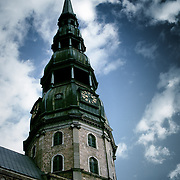 St. Peter's spire, Riga, Latvia (July 2005)