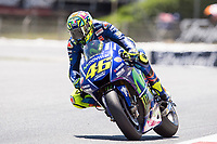 Valentino Rossi of Italy and Movistar Yamaha MotoGP during the race of  MotoGP of Catalunya at Circuit de Catalunya on June 11, 2017 in Montmelo, Spain.(ALTERPHOTOS/Rodrigo Jimenez)