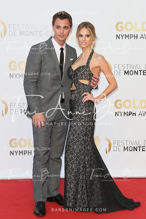 MONTE-CARLO, MONACO - JUNE 11: Darin Brooks and Kelly Kruger attend the Closing Ceremony and Golden Nymph Awards of the 54th Monte Carlo TV Festival on June 11, 2014 in Monte-Carlo, Monaco.  (Photo by Tony Barson/FilmMagic)