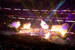 February 3, 2019 - Atlanta, GA, U.S. - ATLANTA, GA - FEBRUARY 03:  A General View of the Pepsi Halftime Show during Super Bowl LIII between the Los Angeles Rams and the New England Patriots on February 3, 2019 at Mercedes Benz Stadium in Atlanta, GA.  (Photo by Rich Graessle/Icon Sportswire) (Credit Image: © Rich Graessle/Icon SMI via ZUMA Press)