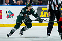 KELOWNA, BC - FEBRUARY 28:  Olen Zellweger #48 of the Everett Silvertips skates against the Kelowna Rockets during first period at Prospera Place on February 28, 2020 in Kelowna, Canada.  (Photo by Marissa Baecker/Shoot the Breeze)