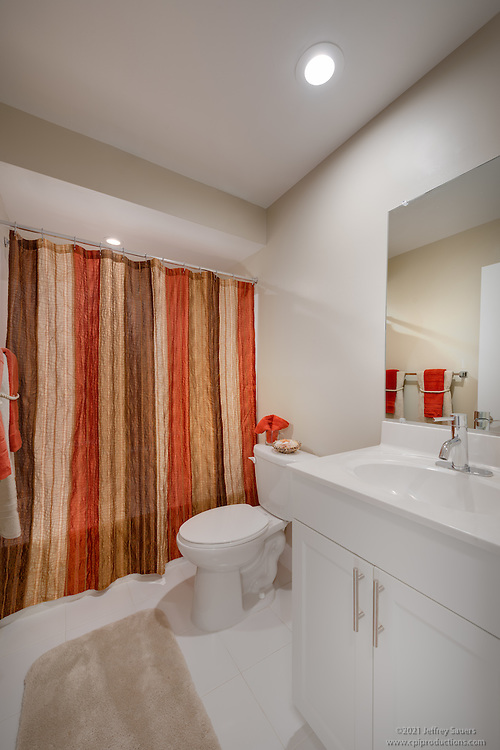 Interior photo of  bathroom at Lancaster Mill Apartments In Woodbridge VA by Jeffrey Sauers of Commercial Photographics, Architectural Photo Artistry in Washington DC, Virginia to Florida and PA to New England