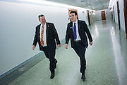 Montana Senator Jon Tester (D) with executive assistant Justin Folsom.