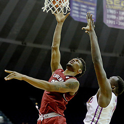 Feb 1, 2017; Baton Rouge, LA, USA; South Carolina Gamecocks forward Chris Silva (30) shoots over LSU Tigers forward Duop Reath (1) during the first half of a game at the Pete Maravich Assembly Center. Mandatory Credit: Derick E. Hingle-USA TODAY Sports
