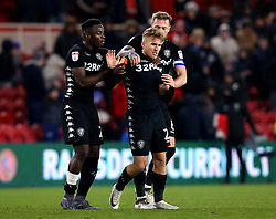 Samu Saiz of Leeds United is dragged away by teammates after getting involved in an argument with Middlesbrough players on the full time whistle - Mandatory by-line: Robbie Stephenson/JMP - 02/03/2018 - FOOTBALL - Riverside Stadium - Middlesbrough, England - Middlesbrough v Leeds United - Sky Bet Championship
