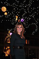 Carol Vorderman switches on the festive Mount Street Christmas Lights along the Mayfair shopping street. London, United Kingdom, November 22, 2012. Photo by Nils Jorgensen / i-Images.
