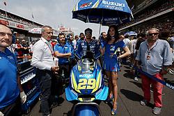 June 17, 2018 - Barcelona, Catalonia, Spain - Andrea Iannone (29) of Italy and Team Suzuki Ecstar during the race day of the Gran Premi Monster Energy de Catalunya, Circuit of Catalunya, Montmelo, Spain. 17th June of 2018. (Credit Image: © Jose Breton/NurPhoto via ZUMA Press)