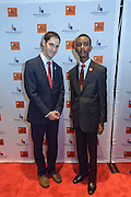 Eli A. Wolff, co-founder of the Sport and Development Project at Brown University, and Edmund on the red carpet at the fourth annual Muhammad Ali Humanitarian Awards Saturday, Sept. 17, 2016 at the Marriott Hotel in Louisville, Ky. (Photo by Brian Bohannon for the Muhammad Ali Center)