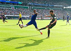 03.08.2014, Weserstadion, Bremen, GER, Testspiel, SV Werder Bremen vs FC Chelsea, im Bild Diedier Drogba (Chelsea FC #15) blockt eine Flanke von Santiago Garcia (SV Werder Bremen #2) // during a friedly match between SV Werder Bremen and Chelsea FC at the Weserstadion in Bremen, Germany on 2014/08/03. EXPA Pictures © 2014, PhotoCredit: EXPA/ Andreas Gumz<br /> <br /> *****ATTENTION - OUT of GER*****