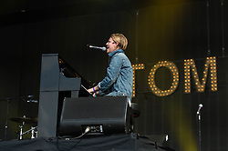 © Licensed to London News Pictures. 12/07/2014. London, UK.   Tom Odell performing live at Hyde Park as part of the British Summer Time series of outdoor concerts.   Photo credit : Richard Isaac/LNP