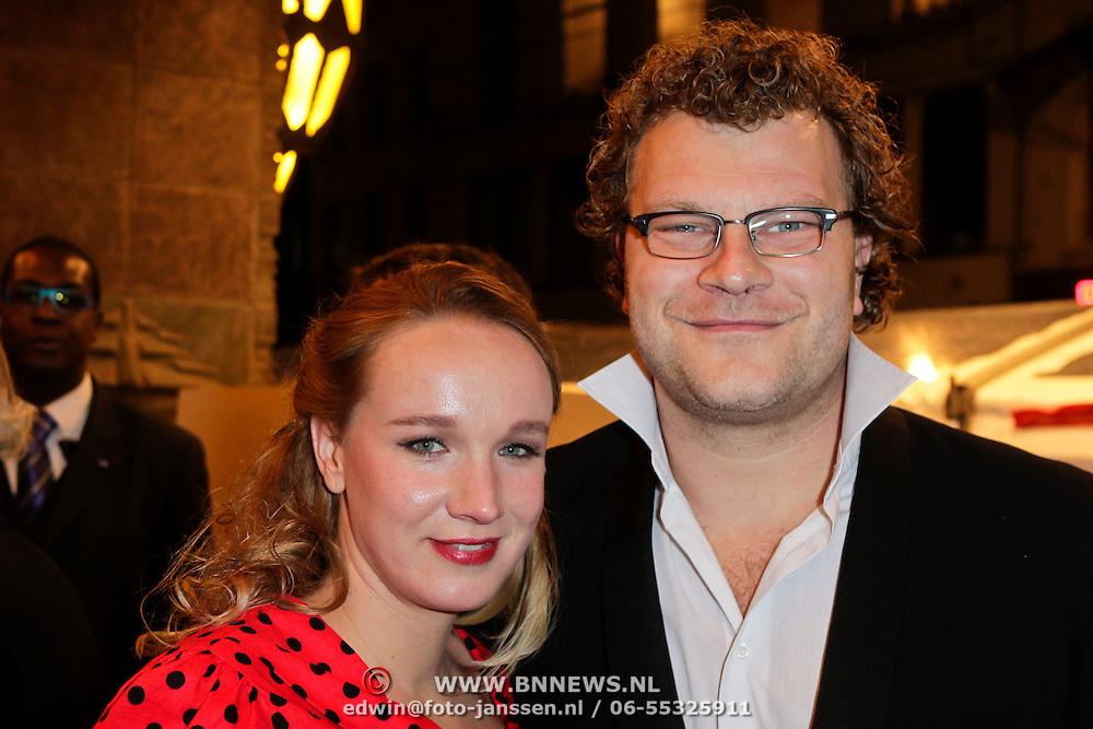 NLD/Amsterdam/20120123 - Premiere Black Out, Bas Keyzer en partner