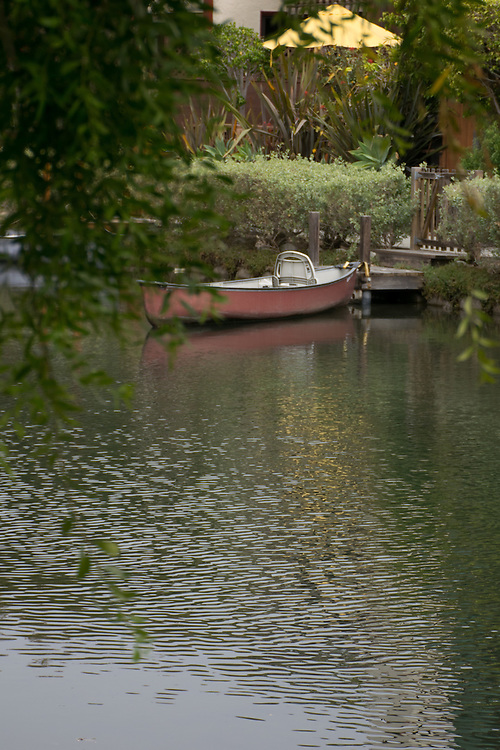 The peaceful venice canals seen behind tree branches. Venice, CA 5.1.15