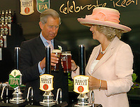 The Prince of Wales and the Duchess of Cornwall pulled  a pint of bitter when they visited Bury St. Edmunds.  The royal couple also  attended a service of celebration at St. Edmundsbury Cathedral.  .