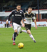 Dundee&rsquo;s Kane Hemmings and Aberdeen&rsquo;s Mark Reynolds - Dundee v Aberdeen, Ladbrokes Scottish Premiership at Dens Park<br /> <br />  - &copy; David Young - www.davidyoungphoto.co.uk - email: davidyoungphoto@gmail.com