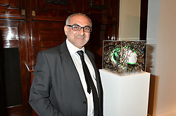 Artist TOLLECK WINNER at the Art of Futebol - a charity auction of 11 footballs signed by 11 Brazilian legends from Pele to Neymar & decorated and designed by 11 leading contemporary artists in aid of Action for Brazil's Children Trust held at the Brazilian Embassy, 16 Cockspur Street, London on 10th July 2014.