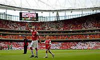 Photo: Daniel Hambury.<br />Arsenal v Ajax. Dennis Bergkamp Testimonial. 22/07/2006.<br />Arsenal's Dennis Bergkamp says goodbye to the fans.