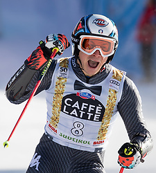 18.12.2016, Grand Risa, La Villa, ITA, FIS Ski Weltcup, Alta Badia, Riesenslalom, Herren, 2. Lauf, im Bild Florian Eisath (ITA, 3. Platz) // third placed Florian Eisath of Italy reacts after his 2nd run of men's Giant Slalom of FIS ski alpine world cup at the Grand Risa race Course in La Villa, Italy on 2016/12/18. EXPA Pictures © 2016, PhotoCredit: EXPA/ Johann Groder